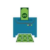 Money printing machine Royalty Free Stock Photography