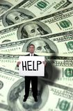 Money Problems, Need Help Concept Royalty Free Stock Photography