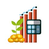 Money and profits design Royalty Free Stock Images