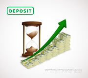 Money Prosperity Realistic Business Template stock illustration