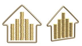 Money for purchase of habitation Stock Photography