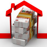 Money for the purchase of real estate Royalty Free Stock Images