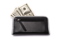 Money in purse Royalty Free Stock Photos