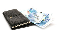 Money in a purse Royalty Free Stock Photos