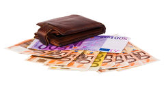 Money and purse Royalty Free Stock Photography