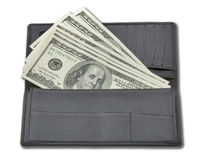 Money in a purse Stock Images