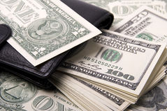 Money and purse Stock Image
