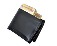 Money purse. Full of indian money in  purse Stock Photography
