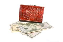 Money and purse Royalty Free Stock Images
