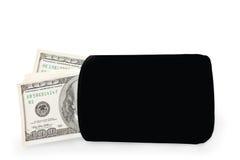 Money into the purse Stock Photo