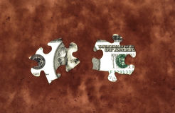 Money Puzzle 2 royalty free stock images