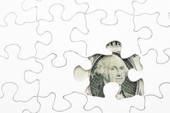 Money puzzle Stock Images