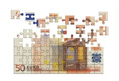 Money puzzle Royalty Free Stock Photos