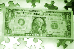 Money puzzle Stock Photography