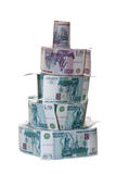 Money pyramid Stock Images
