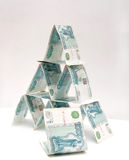Money pyramid Royalty Free Stock Image