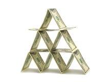 Money pyramid Royalty Free Stock Photography