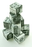 Money pyramid-financial concept. Of accumulation and augmentation of money Stock Photo