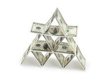 Money pyramid Stock Images