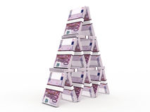 Money pyramid isolated on white background Stock Photography