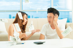 Money quarrel Royalty Free Stock Images