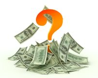 Money question Stock Images