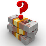 The money question Stock Images