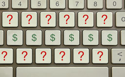 Money questions Stock Photography