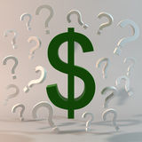 Money Questions Stock Photo