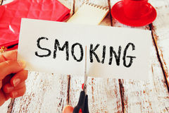 money quit save smoking 减速火箭的样式 免版税库存照片