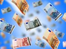Money rain. Stock Photo