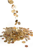Money rain. On white background royalty free stock images