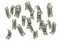 Money rain. Render of a money rain vector illustration