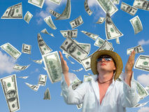 Money rain stock image