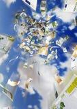 Money rain. 3D illustration of an money rain Stock Photos