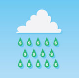 Money Rain Drops Royalty Free Stock Images