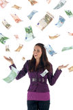 Money rain (euro banknotes) Royalty Free Stock Images