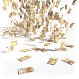 Money rain of 50 euro bills Stock Photo