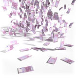 Money rain of 500 euro bills Stock Image
