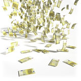 Money rain of 200 euro bills Royalty Free Stock Photo