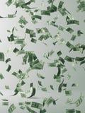 Money rain. Flying Money royalty free illustration