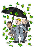 Money rain Stock Images