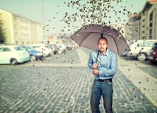 Money rain Royalty Free Stock Image