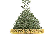 Money Rain. Pile of Cash - ing down Stock Photos