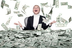 Money rain Stock Photography