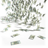 Money rain of 50 rubles bills Royalty Free Stock Photos