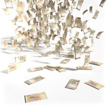 Money rain of 50 swedish kronor bills Stock Images