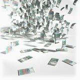 Money rain of 100 Swedish kronor bills Royalty Free Stock Photos