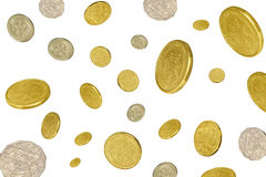 Money raining Royalty Free Stock Photo
