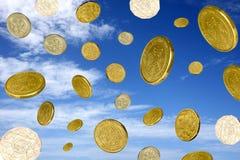 Money raining Royalty Free Stock Photo